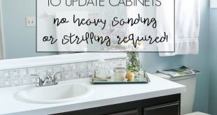 DIY Gel Stain Cabinets (No heavy sanding or stripping!)