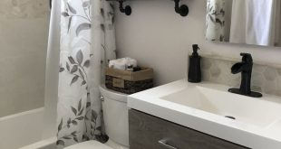 Small Bathroom remodel with floating vanity