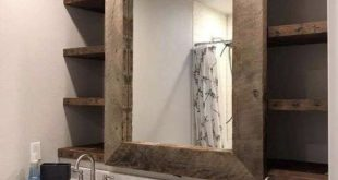 Cute idea, but I'd want to have two mirrors with a gap of shelving in the midd...