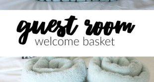 Gästezimmer Willkommenskorb + Kostenlos zum Ausdrucken - #Ausdrucken #Gästezim...