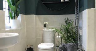 This bathroom decor is amazing! #smallbathroomideas #bathroomideas #bathroomdeco...