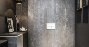 dark bathroom tile #darkbathroomwalls