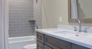 36 Lovely Small Master Bathroom Remodel On a Budget #bathroomremodel #smallbathr...