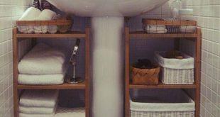 Aufbewahrungsideen für Badezimmer; Aufbewahrungsideen für Badezimmer auf kleinem Raum; DIY Speicherideen. #bathroomrenosforsmallspaces - Decor Bathroom
