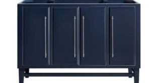 Avanity Mason 48 in. Single Bathroom Vanity Cabinet Only in Navy Blue (Navy Blue with Brushed Silver Trim)