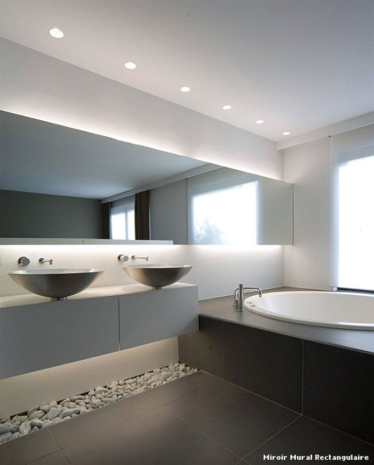 Badezimmer-modern-schöne-Luxus-Galerie-3-Spiegel-Wand ...