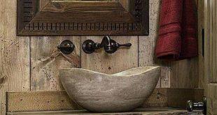 Coole rustikale Badezimmer-Design-Ideen