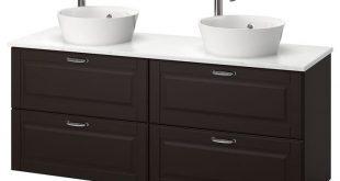 IKEA - GODMORGON/TOLKEN / KATTEVIK Bathroom vanity Kasjön dark gray,