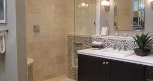 bathrooms - tile from the Tile shop Kirsty Froelich - custom dark bathroom cabi...